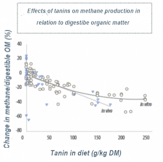 Effects of tannins on methane production1